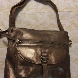 Fossil Long Live Vintage Bronze Lg Shoulder Bag